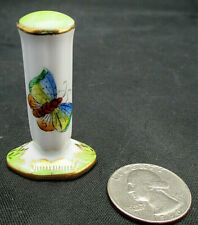 """Rare Ring Tree 1.75"""" Porcelain Herend Hungary VICTORIA Flower Butterfly Green"""