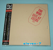 The WHO LIVE AT LEEDS JAPAN MINI LP CD +8 pocp - 9198 1st issue target OBI + indice