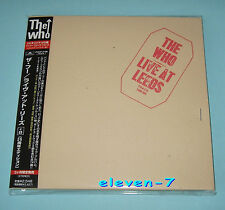 THE WHO Live at Leeds Japan mini LP CD +8 POCP-9198 1st issue Target OBI +Index