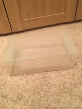 Ladies Clear Plastic Shoe Boxes