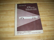 STUDY GUIDE FOR AUTOMOTIVE BRAKES AND POWER TRANSMISSION SYSTEMS