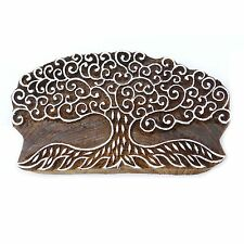 Wooden Textile Stamps Decorative Tree Stamp Wood Printing  Printing Block PB2673