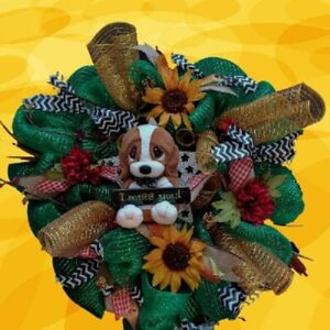 """One 24"""" Deco Mesh Wreath I Miss You Funeral Memorial Graveside Sympathy New"""