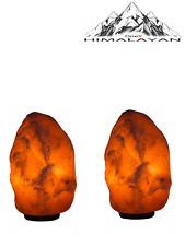2x Lampada Regalo Paio 2-3kg Lampada di Sale dell'Himalaya Naturale carfted 2x 15 WATT Casa UK