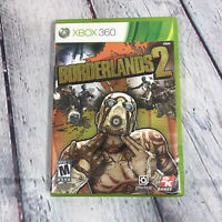 Borderlands 2 Game (Microsoft Xbox 360, 2012) Disc Case & Manual Tested Working