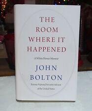 THE ROOM WHERE IT HAPPENED - BOOK - 'A WHITE HOUSE MEMOIR' JOHN BOLTON HARDBACK