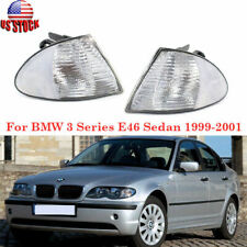 For BMW E46 3-Series Sedan 1999-2001 Front Turn Signal Lights Clear Lens Housing
