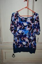 ALYX WOMAN SIZE 3X FLORAL PATTERN SHORT SLEEVE TOP  NEW