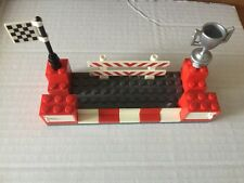 LEGO BUSINESS CARD HOLDER  CUSTOM MADE FOR YOUR DESK RACING THEMED RED  COLORS