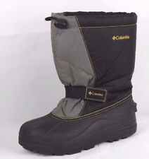 Columbia winter snow boots black gray insulated warm size 5