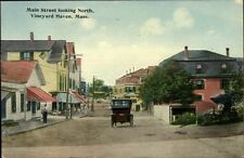 Vineyard Haven Martha's Vineyard Main Street North c1910 Postcard
