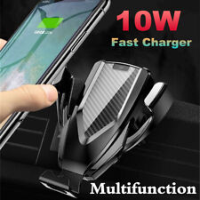 Fast QI Wireless Charger Car Mount Air Vent Charging Holder Stand For iPhone X