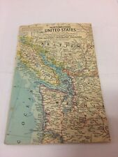 National Geographic Atlas Plate Northwestern US Map 1960 Free Shipping