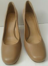 Women's Naturalizer Beige Leather and Suede High Heel Shoes - Size UK 5.5 EUR 37