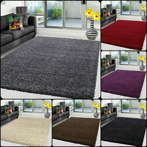 Thick Shaggy Large Verona Rugs Hallway Rug Runner Living Room Carpet Deep Pile