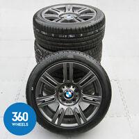 "GENUINE BMW 3 SERIES 17"" 194 M SPORT FERRIC GREY DOUBLE SPOKE ALLOY WHEELS TYRES"