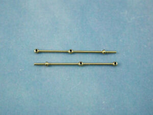 Model boat  2 Hole Brass Rail Stanchion Ball Type 25mm 66225 pack of 10