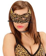 léopard paillettes Masque Yeux NEUF - Carnaval Masque Face