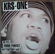"KRS - ONE - Word Perfect/ The MC 12"" Vinyl"