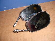 Harley Davidson OEM Teardrop Tapered Chrome Short Stem Mirrors 7604