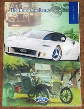 1996 FORD CARS Brochure inc RS2000 Probe Fiesta Mondeo Maverick Scorpio Galaxy