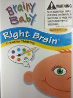 Brainy Baby Right Brain (DVD, 2003) Children Child Kid Educational