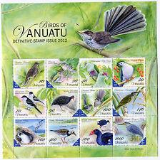 Vanuatu 2012 uccelli birds mnh