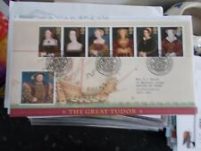 ROYAL MAIL FIRST DAY COVER - THE GREAT TUDOR - HAMPTON COURT FRANKED 21-1-1997