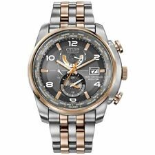 NEW CITIZEN ECO DRIVE MEN'S WORLD TIME RADIO CONTROLLED ATOMIC WATCH AT9016-56H