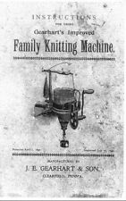 Sock Knitting Machine Gearhart's Manual 1892 (copy) Family Knitting Machine