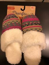 Dearfoams Memory Foam Fleece Lined  Womens Slippers  Size XL 11-12