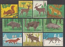 POLAND 1963 Matchbox Label - Cat.Z#366II/75III set, Forest animals.