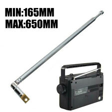 "Replacement 25.4cm 10/"" 5 Sections Telescopic Antenna Aerial for Radio TV TS"