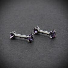 1Pair CZ Gem 16G Barbell Ear Cartilage Tragus Helix Stud Earring Body Piercing