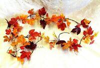Fall Ivy Leaf Garland Artificial Silk Autumn Thanksgiving Table Decor Runner