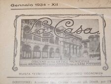 ARCHITETTURA - LA CASA 12 numeri Annata 1934 Urbanistica Case Popolari Milano