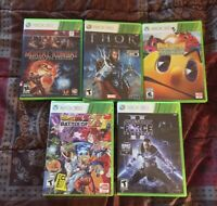 Lot of 5 UNIQUE Xbox 360 Games Thor Dragon Ball Z Pac Man MK9 Star Wars TESTED