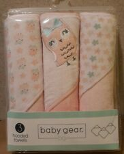 """baby gear (bg) - 3 Hooded Towels for Girls - 28"""" x 28"""""""