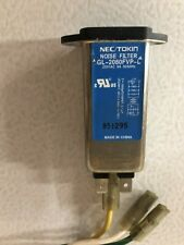 NEC/TOKIN NOISE FILTER GL-2080FVP-L WITH WIRING-Used, Free Shipping