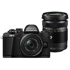 Olympus OM-D E-M10 Mark II Body w/ 14-42mm II R & 40-150mm R Lens Kit (Black)