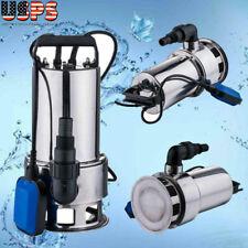 Sewage Pump 15hp 4300gph Pool Pond Flood Submersible Water Pump 1100w High Powe