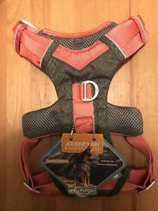 Kurgo Journey Air Dog Harness  ~Reflective Size Med   Coral