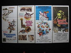 WALT DISNEY Original Australian daybill movie posters x 4 Dean Jones Ustinov