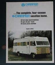 1970s Bremen,Indiana Champion Motor Homes-Rvs-Campers brochure-Zelienople,Pa.!*