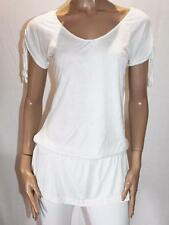 CROSSROADS Brand White Short Sleeve Drop Waist Tunic Top Size XS BNWT #SG13