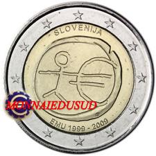 2 Euro Commémorative Slovénie 2009 - 10 Ans de l'Euro EMU