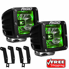 Rigid Radiance Pod Green Back Light Fog Light for 99-16 Ford F250 F350 Excursion