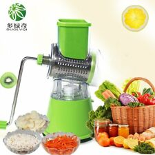 Multi-function Vegetables Fruit Cutter Manual Drum Slicer Shredders Grinder RF