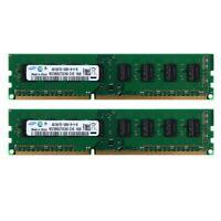 RAM 8GB ( 2X 4GB ) DDR3 1333MHz For Samsung 2Rx8 PC3-10600 240Pin Desktop Memory