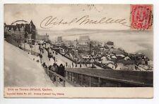 CANADA carte postale ancienne QUEBEC slide on TERRACE